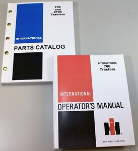 Set International Farmall 706 Tractor Owner Operator Parts Manuals Catalog Book