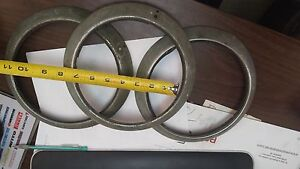 Set Of 3 Vintage Headlight Rings Rat Rod Antique Auto maybe Willys Jeep