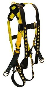 Falltech Fall Protection Safety Body Harness With Lanyard Keepers Xl X large