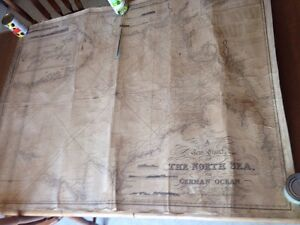 Huge Antique 1846 Map A New Chart Of The North Sea Blachford Imray