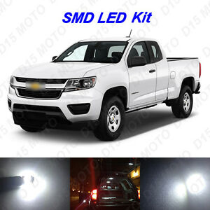 17 X White Led Interior Bulbs Fog Reverse Tag Lights For 2015 2016 2017 Colorado