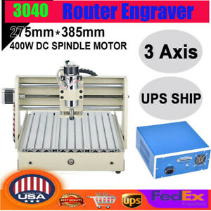 3axis Cnc Router Engraver Engraving Drilling Milling Machine 400w Desktop Cutter
