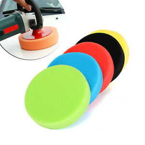 5pcs 3 4 5 6 7 Flat Sponge Buff Buffing Pad Polishing Pad Kit Car Polisher