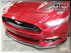 2015 2017 Ford Mustang Carbon Fiber Gt Oe Style Front Bumper Spoiler Lip Cf