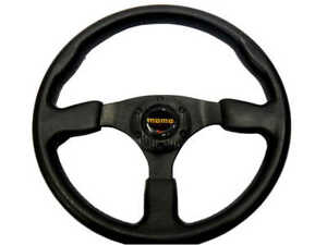 New 14 Black Pu 3 Spoke Sport Racing Steering Wheel Horn Button 5