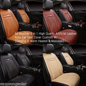 All Weather 3 In 1 Auto Car Seat Cover Cushion Cooling Warm Heated Massage