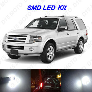 14x White Led Interior Bulbs Fog Reverse Tag Light For 2007 2016 Ford Expedition