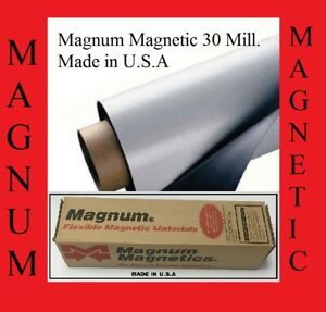 4 Rolls 12 Width X 5 Feet 30 Mil Blank Magnetic Sign Sheet Cars Truck Magnum