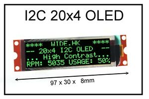 Iic I2c 2004 20x4 Green Oled Module Display For Arduino Pic Avr Arm