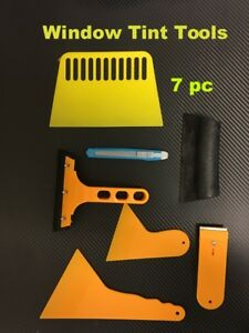 Window Tint Tools Kit For Auto Film Tinting Scraper Installation 7 Pc In 1 Set