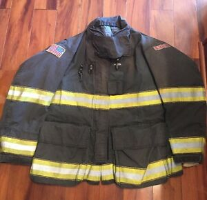 Firefighter Globe Turnout Bunker Coat 50x35 G xtreme Black Halloween Costume