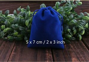 200 Royal Blue Velvet Square Wedding Pouches Jewelry Bag 5 X 7 Cm 2 X 3 Inch