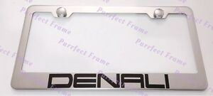 Gmc Denali Stainless Steel License Plate Frame Rust Free W Bolt Caps