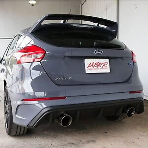 Mbrp S4203409 Xp series 3in Duel Exit Catback For Ford Focus Rs 2 3 2016 2018