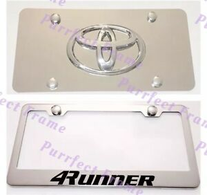 Toyota 4runner Stainless License Frame Mirror Plate Combo Rust Free