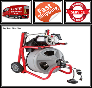 Electric Cleaning 75 Machine Pipe Sewer Tub Drum Power Machine Auger Cable Drain
