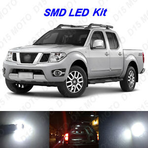 7x White Led Interior Bulbs License Plate Lights For 2005 2016 Nissan Frontier