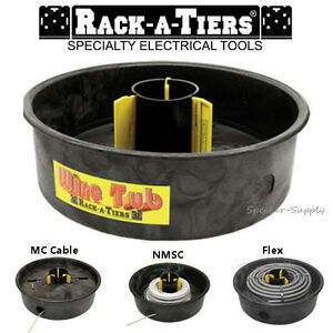 Rack a tiers Wire Tub Coil Dispenser Rewinder Electrical Cable Mc Nmsc New 18455