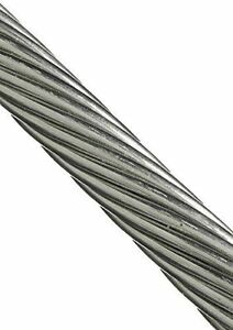 T316 Stainless Steel Cable Wire Rope 3 16 1x19 15 25 35 50 75ft Marine Grad