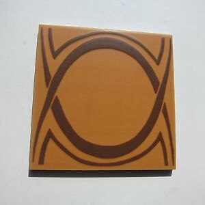 Vintage 1960s 6 X 6 Brown Deco Floor Tile 45 Sq Ft Available Made In Italy