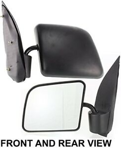 Fits Ford Econoline Van 1994 2002 Side Mirror Left Driver Folding Fo1320172