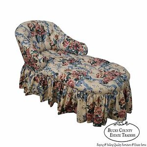 Kaylyn Inc Floral Upholstered Tufted Chaise Lounge