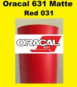 Oracal 631 Matte Red 031 Sign Vinyl Indoor Wall Removable 12 x 10 Ft