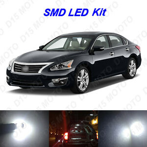 17 X White Led Interior Bulbs Reverse Tag Lights For 2007 2016 Nissan Altima