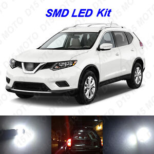 8 X White Led Interior Bulbs License Plate Lights For 2008 2016 Nissan Rogue