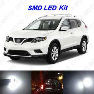 12 X White Led Interior Bulbs Fog Reverse Tag Lights For 2008 2016 Nissan Rogue