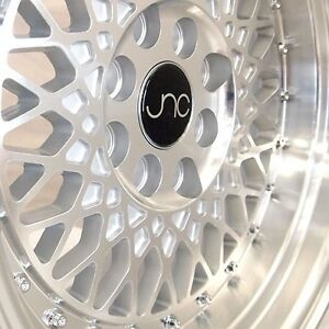 Jnc031 16x8 4x100 114 3 Et20 Silver Machined Face Wheels Rims Fit Honda Civic Si