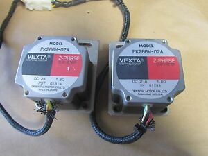 Lot Of 2 Vexta Pk266m 02a Oriental Stepping Stepper Motor 2 phase 0 9 step