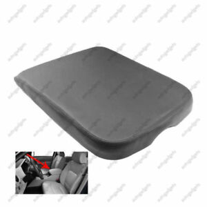 Leather Armrest Center Console Lid Cover Fits For Dodge Ram 2002 2008 Gray