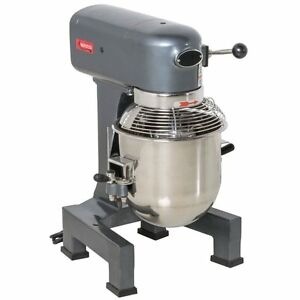 Commercial Dough 10 Qt Planetary Stand Mixer W guard 3 Attachments Gear Driven
