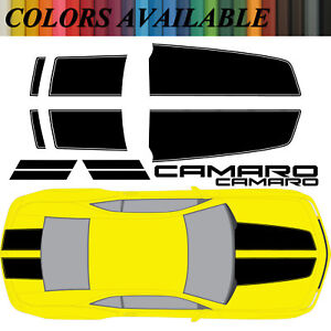 Chevy Camaro Rally Racing Stripes Vinyl Decals For 2010 13 Rs Ss Hood trunk