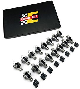 Engine Pro Sbf Ford 302 Chrome moly Steel Roller Rocker Arms 1 6 Ratio 3 8 Stud