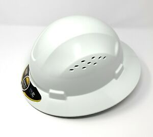 Hdpe Natural Full Brim Hard Hat With Fas trac Suspension