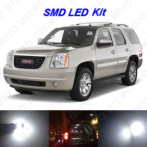 18 X White Led Interior Bulbs Fog Reverse Tag Lights For 2007 2014 Gmc Yukon Xl