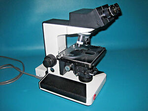 Leitz Laborlux S Microscope W 3 Objectives
