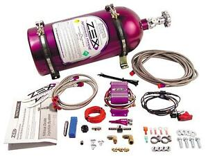 Zex 82021 55 75 Hp Wet Nitrous Oxide Kit For Universal 4 6 Cylinder Vehicles