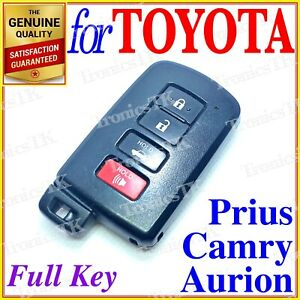 Toyota Smart Key Camry Prius Aurion Avalon 4 Buttons