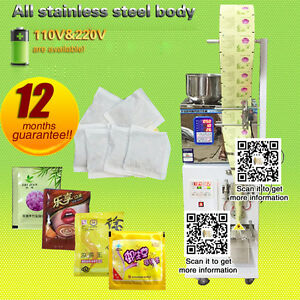 Dhl Shipping automatic Powder Filler And Sealer For Dispensing Tea food 2 200g