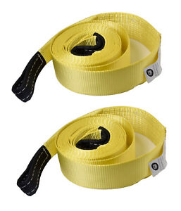 2 3 20 000lbs Tow Strap 20ft Winch Sling Offroad Vehicle Recovery Free Shi