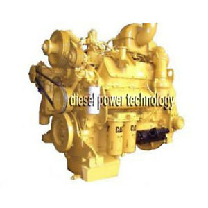 Caterpillar Model 3408di Remanufactured Diesel Engine Extended Long Block Engine