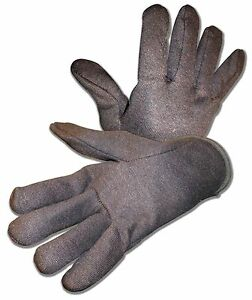 B g Mens Red Lined Brown Jersey Work Gloves Ramie cotton Heavy Weight Asst Qtys