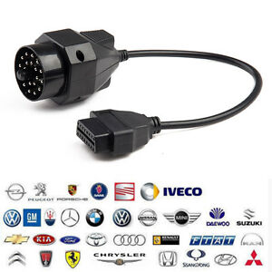 For Bmw Vag 20pin Obd1 To 16pin Obd2 Adapter Diagnostic Cable Connector Male To