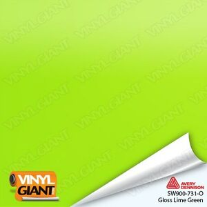 Avery Supreme Gloss Lime Green Vinyl Vehicle Car Wrap Film Trim Roll Sw900 731 O