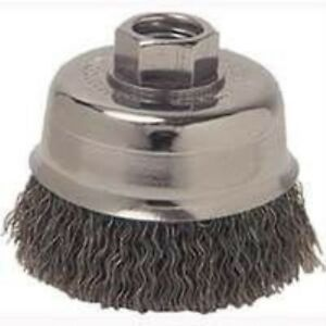 Weiler36037 Coarse Grade Crimped Wire Cup Brush 6 x5 8 11 0 02 Wire carb Steel