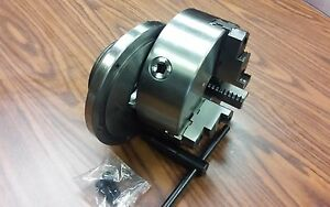 8 3 jaw Self centering Lathe Chuck Top Bottom Jaws W L0 Adapter Back Plate