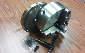 8 3 jaw Self centering Lathe Chuck Top Bottom Jaws W L00 Adapter Back Plate